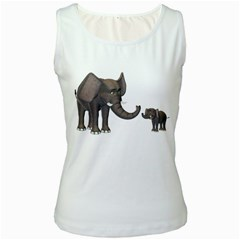 Elephant 3 Womens  Tank Top (White)