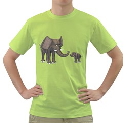 Elephant 3 Mens  T-shirt (Green)