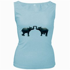 Elephant 4 Womens  Tank Top (Baby Blue)