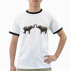 Elephant 4 Mens' Ringer T Shirt
