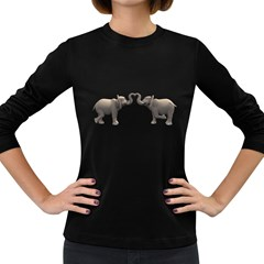 Elephant 4 Womens' Long Sleeve T-shirt (Dark Colored)
