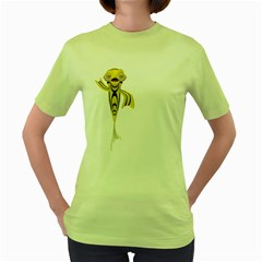 Fish 1 Womens  T-shirt (Green)