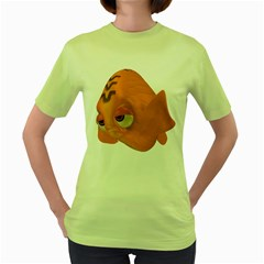 Fish 2 Womens  T-shirt (Green)