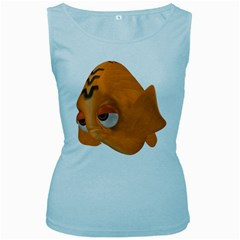 Fish 2 Womens  Tank Top (Baby Blue)