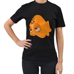 Fish 2 Womens' Two Sided T-shirt (Black)