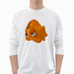Fish 2 Mens' Long Sleeve T-shirt (White)