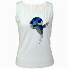 Fish 3 Womens  Tank Top (white)