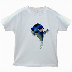 Fish 3 Kids' T-shirt (White)