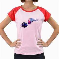 Fish 5 Women s Cap Sleeve T-Shirt (Colored)