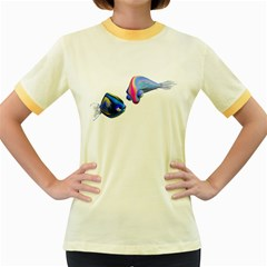 Fish 5 Womens  Ringer T-shirt (Colored)