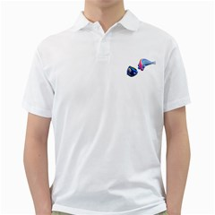Fish 5 Mens  Polo Shirt (white)