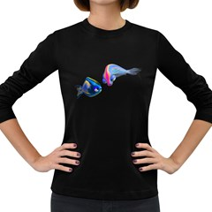 Fish 5 Womens' Long Sleeve T-shirt (Dark Colored)