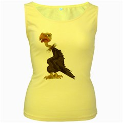 Vulture 1 Womens  Tank Top (Yellow)