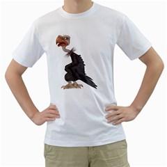 Vulture 1 Mens  T-shirt (White)