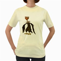Vulture 2  Womens  T-shirt (Yellow)