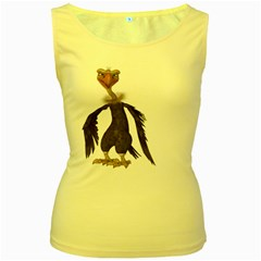 Vulture 2 Womens  Tank Top (Yellow)