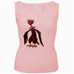 Vulture 2 Womens  Tank Top (pink)