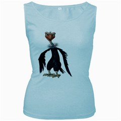 Vulture 2 Womens  Tank Top (Baby Blue)
