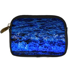 waves and pelican Digital Camera Leather Case