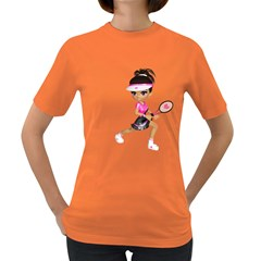 Tennis Girl 1 Womens' T-shirt (Colored)