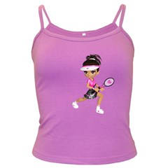 Tennis Girl 1 Spaghetti Top (colored)