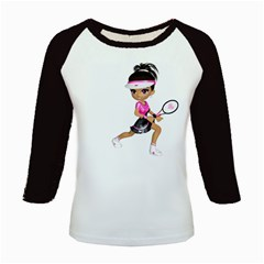 Tennis Girl 1 Women s Long Cap Sleeve T Shirt