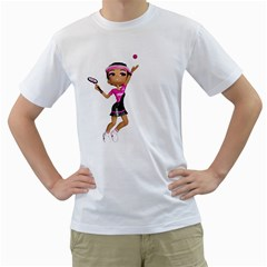 Tennis Girl 2 Mens  T-shirt (White)