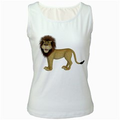Lion 1 Womens  Tank Top (white)