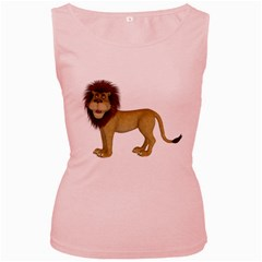 Lion 1 Womens  Tank Top (Pink)