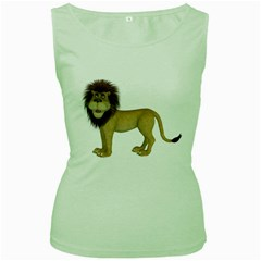 Lion 1 Womens  Tank Top (green)