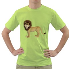 Lion 1 Mens  T Shirt (green)
