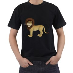 Lion 1 Mens' Two Sided T-shirt (Black)