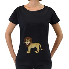Lion 1 Womens' Maternity T-shirt (Black)