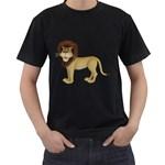 Lion 1 Mens' T-shirt (Black) Front