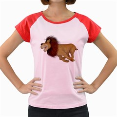 Lion 2 Women s Cap Sleeve T-Shirt (Colored)