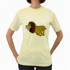 Lion 2  Womens  T Shirt (yellow)