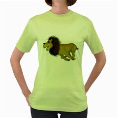 Lion 2 Womens  T-shirt (Green)
