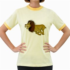 Lion 2 Womens  Ringer T-shirt (Colored)