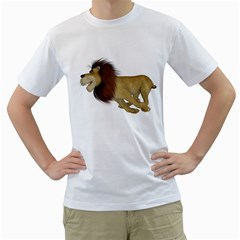 Lion 2 Mens  T-shirt (White)