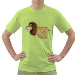 Lion 2 Mens  T-shirt (Green)