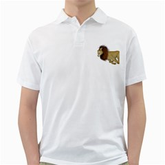 Lion 2 Mens  Polo Shirt (White)