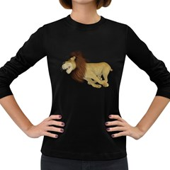 Lion 2 Womens' Long Sleeve T Shirt (dark Colored)