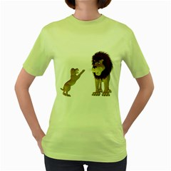 Lion 3 Womens  T-shirt (Green)