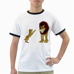 Lion 3 Mens' Ringer T-shirt