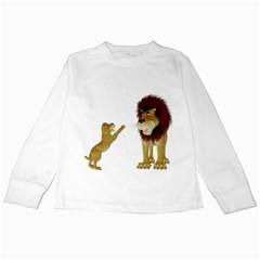 Lion 3 Kids Long Sleeve T-Shirt