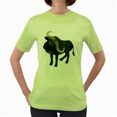 Buffalo 1 Womens  T-shirt (Green)