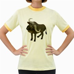 Buffalo 1 Womens  Ringer T Shirt (colored)