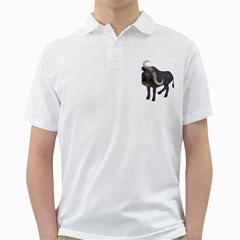 Buffalo 1 Mens  Polo Shirt (white)