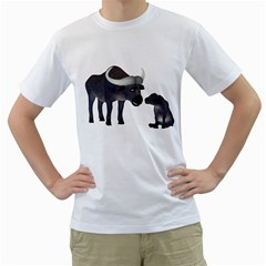 Buffalo 2 Mens  T-shirt (White)