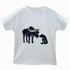 Buffalo 2 Kids' T Shirt (white)